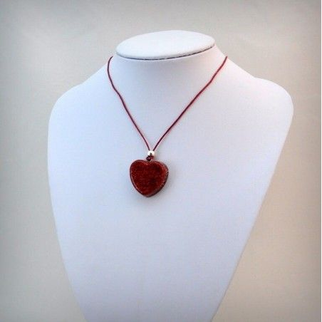 Colour Heart Colgante con Purpurina